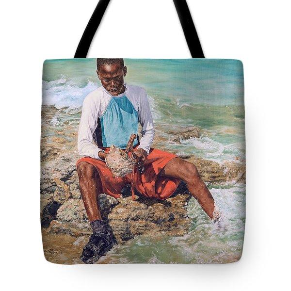Conch Boy II Tote Bag
