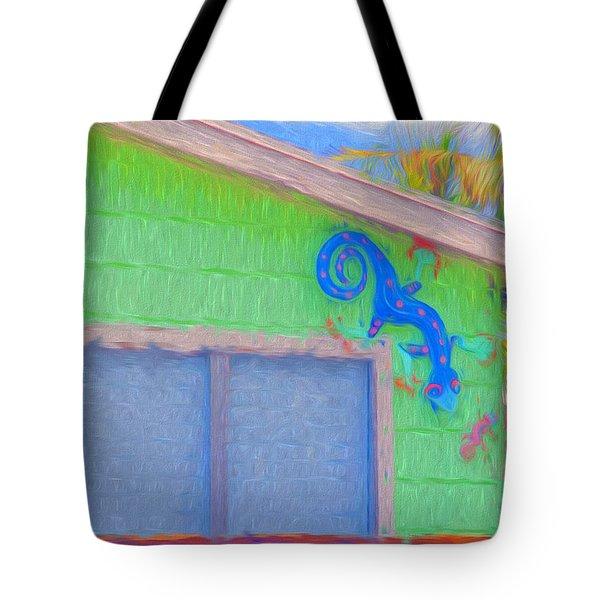 Conch Key Lizard Wall Art Tote Bag