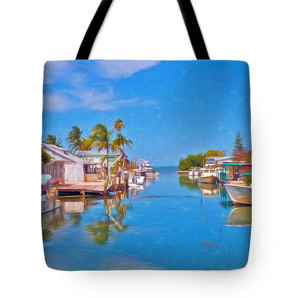 Conch Key Waterfront Living 3 Tote Bag