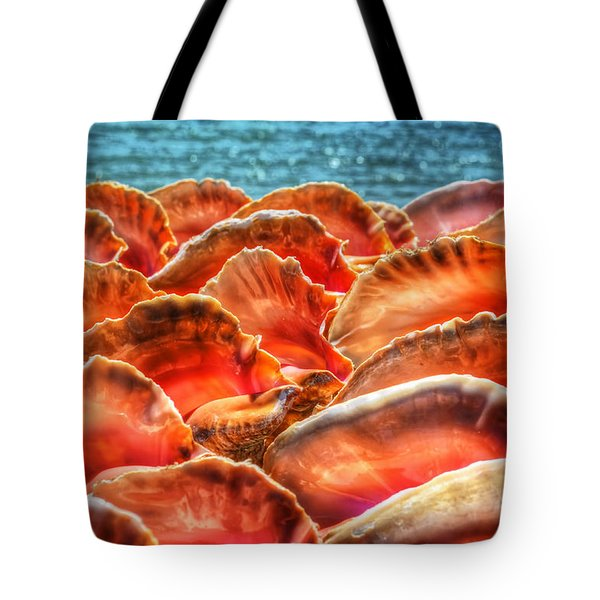 Conch Parade Tote Bag by Jeremy Lavender Photography