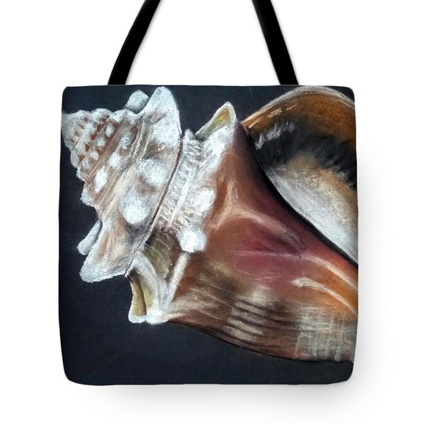 Tote Bag featuring the pastel Conch Study by Jennifer Hotai