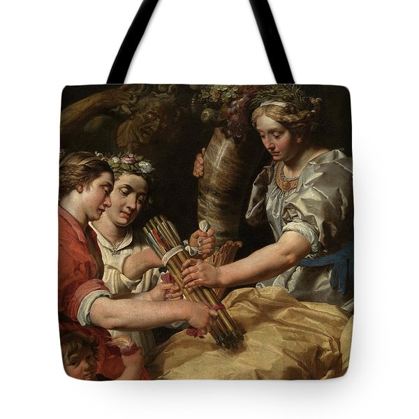 Concord, Charity And Sincerity Conquering Discord Tote Bag