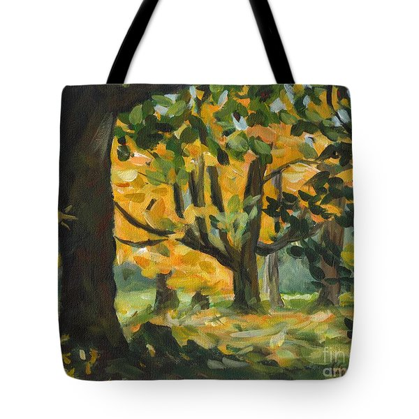Concord Fall Trees Tote Bag by Claire Gagnon