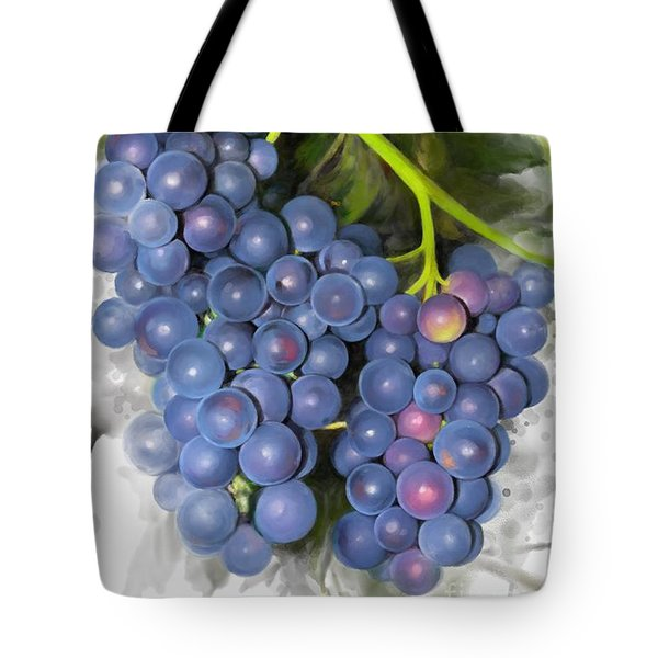 Tote Bag featuring the painting Concord Grape by Ivana Westin