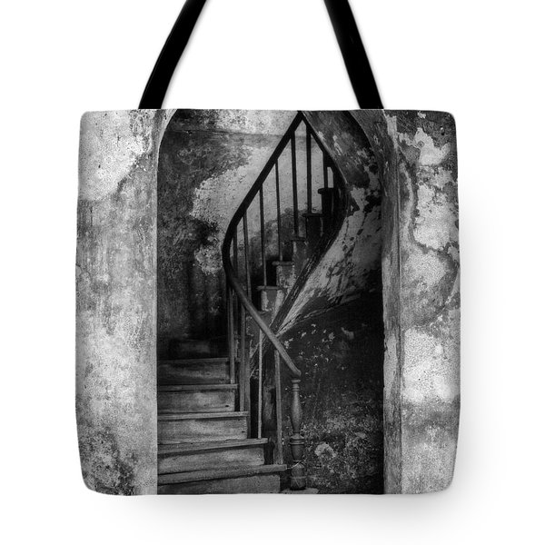 Concrete And Stairwell Tote Bag