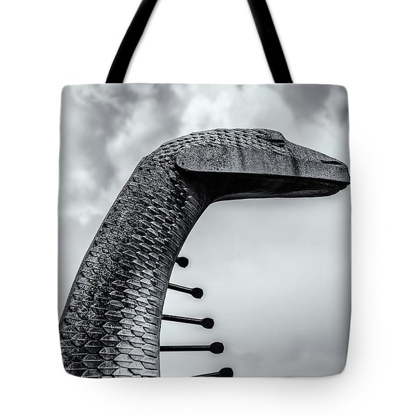 Concrete Serpent Tote Bag