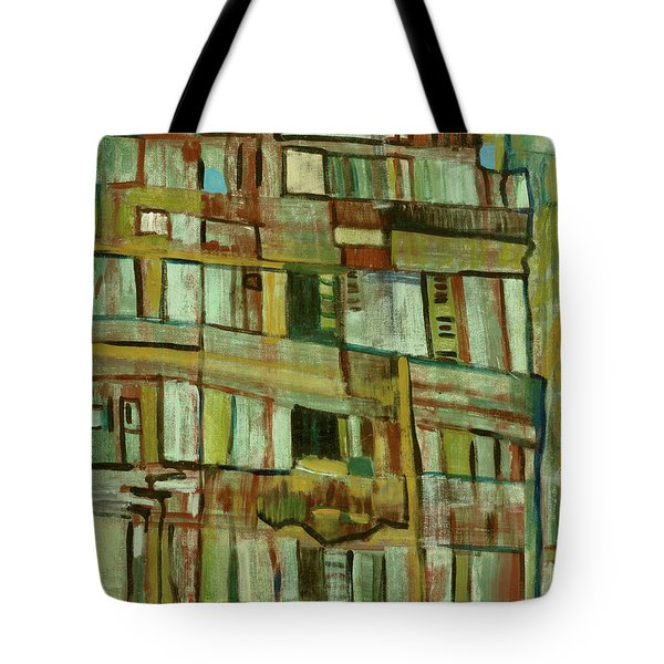 Tote Bag featuring the painting Condo by Paul McKey