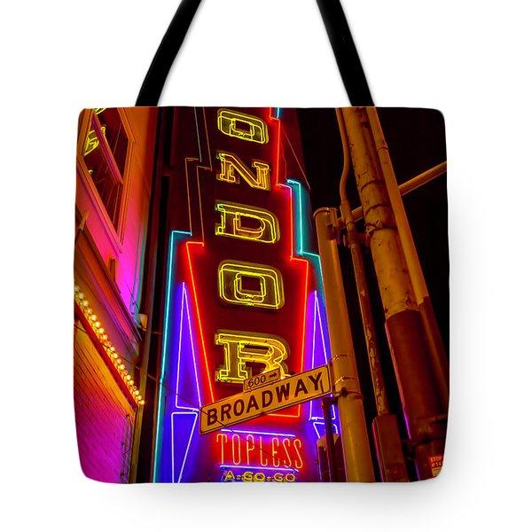 Condor Neon On Broadway Tote Bag