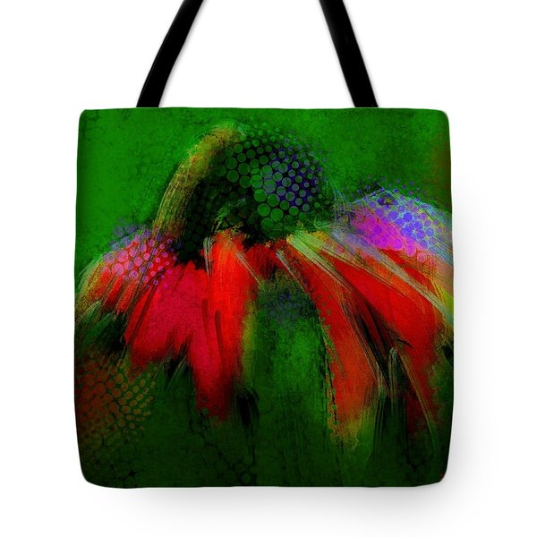 Cone Flower Aug 15 2015 Tote Bag by Jim Vance