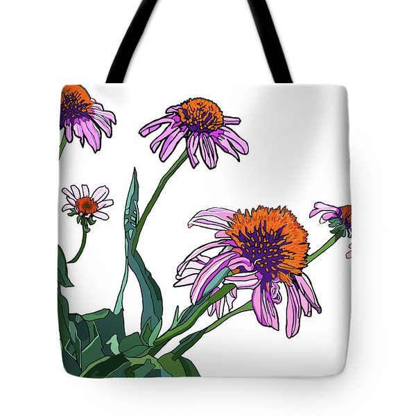 Cone Flowers Tote Bag by Jamie Downs