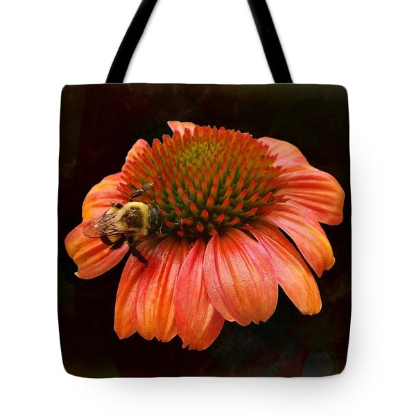 Coneflower And Bee Tote Bag