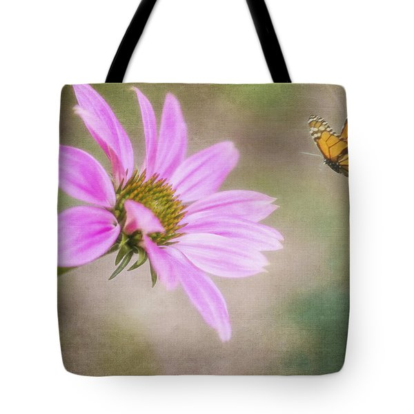 Coneflower And Butterfly Tote Bag