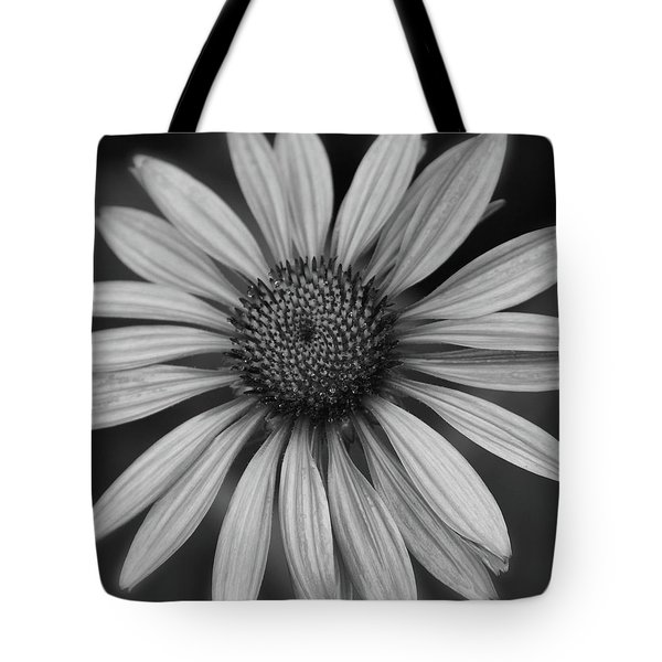 Coneflower In Black And White Tote Bag