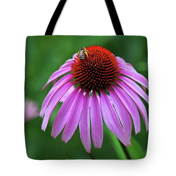 Tote Bag featuring the photograph Coneflower by Judy Vincent