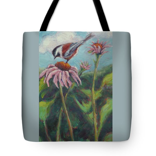 Coneflower Peep Tote Bag