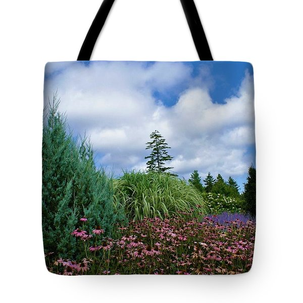 Coneflowers And Clouds Tote Bag