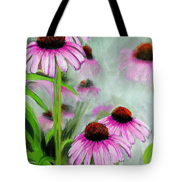 Coneflowers In The Mist Tote Bag