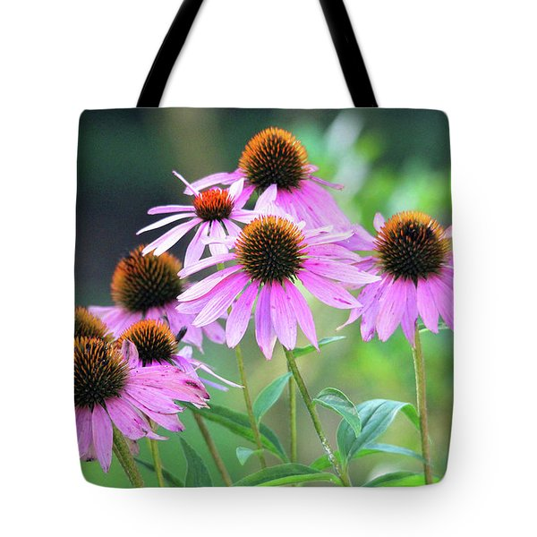 Tote Bag featuring the photograph Coneflowers by Trina Ansel
