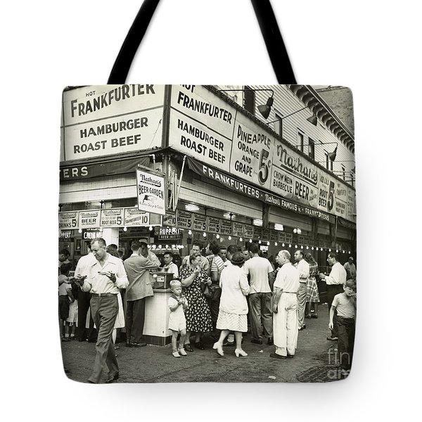 Coney Island Boardwalk Tote Bag