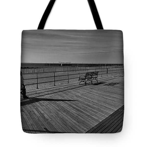 Tote Bag featuring the photograph Coney Island Meditations by Steven Richman