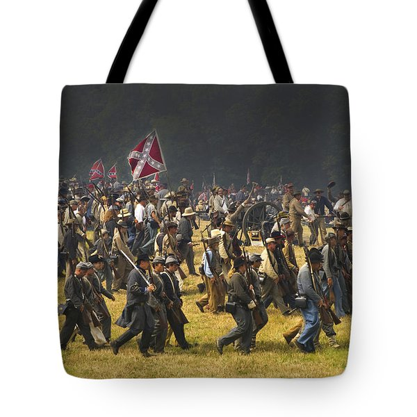 Confederate Charge At Gettysburg Tote Bag