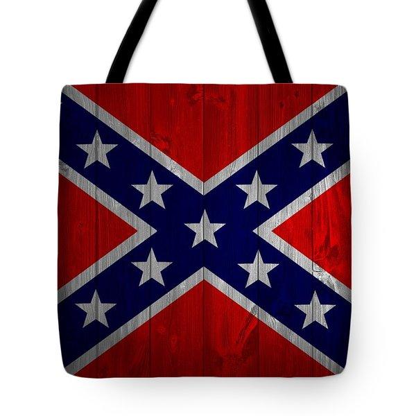 Confederate Flag Barn Door Tote Bag