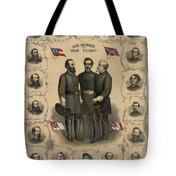 Confederate Generals Of The Civil War Tote Bag