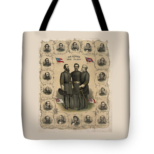 Confederate Generals Of The Civil War Tote Bag by War Is Hell Store