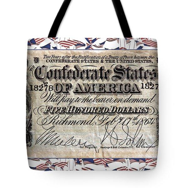 Confederate Money Tote Bag