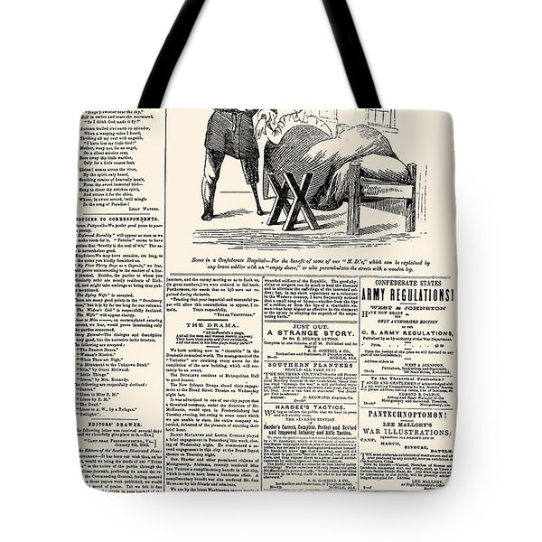 Confederate Newspaper Tote Bag by Granger