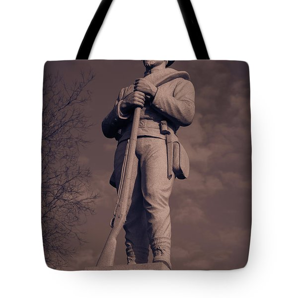 Confederate Statue  Standing Guard Tote Bag