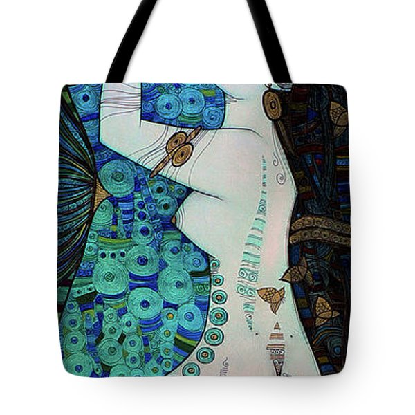 Confessions In Blue Tote Bag