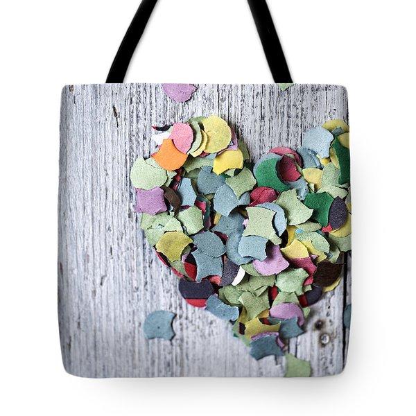 Confetti Heart Tote Bag