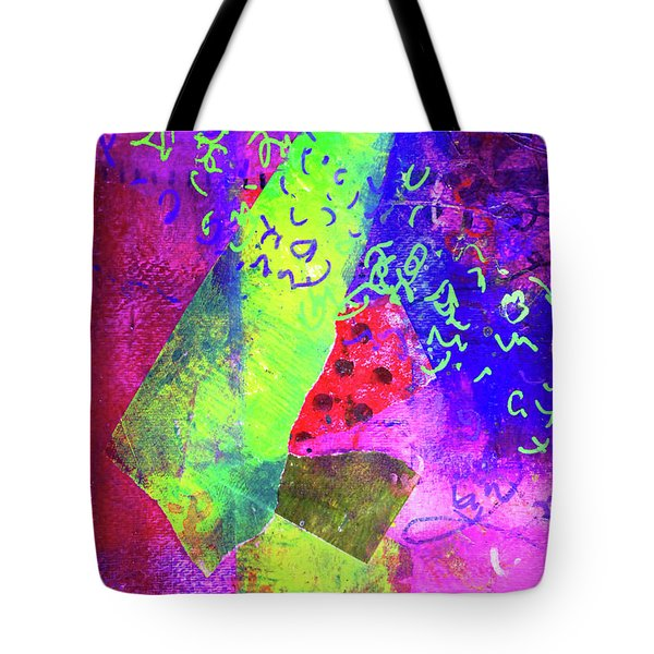 Tote Bag featuring the mixed media Confetti by Nancy Merkle