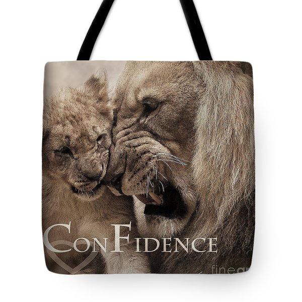 Confidence Tote Bag by Christine Sponchia