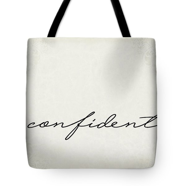 Confident One Word Series Tote Bag