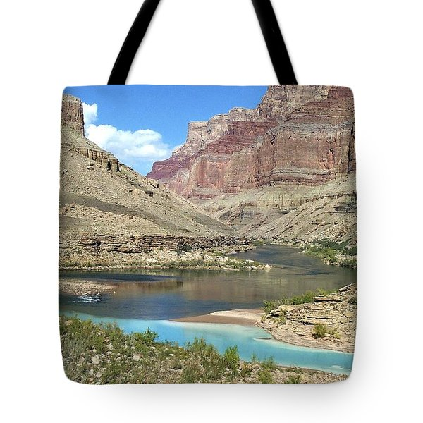 Confluence Of Colorado And Little Colorado Rivers Grand Canyon National Park Tote Bag