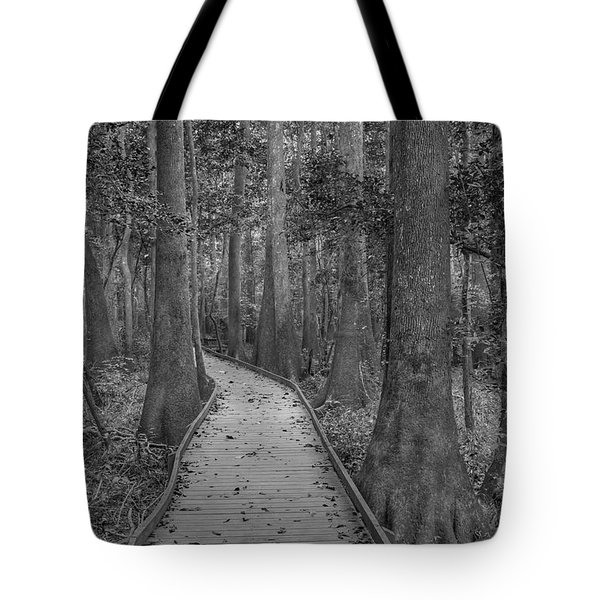 Tote Bag featuring the photograph Congaree 2017 03 Bw by Jim Dollar