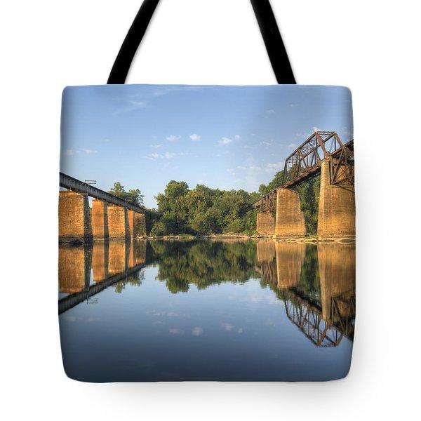 Congaree River Rr Trestles - 1 Tote Bag