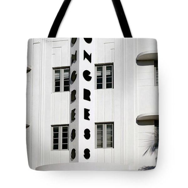 Congress Hotel. Miami. Fl. Usa Tote Bag