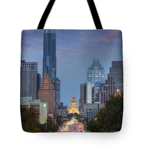 Congress To The Texas State Capitol 3 Tote Bag