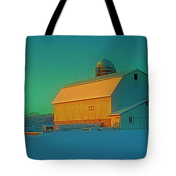 Conley Rd White Barn Tote Bag