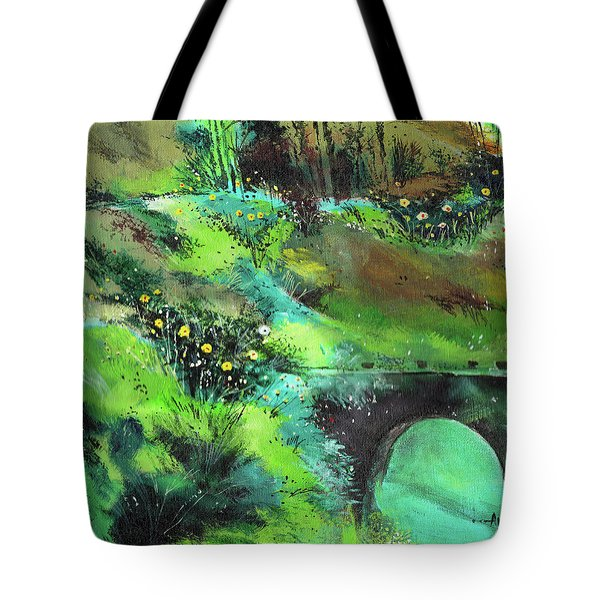 Tote Bag featuring the painting Connect by Anil Nene