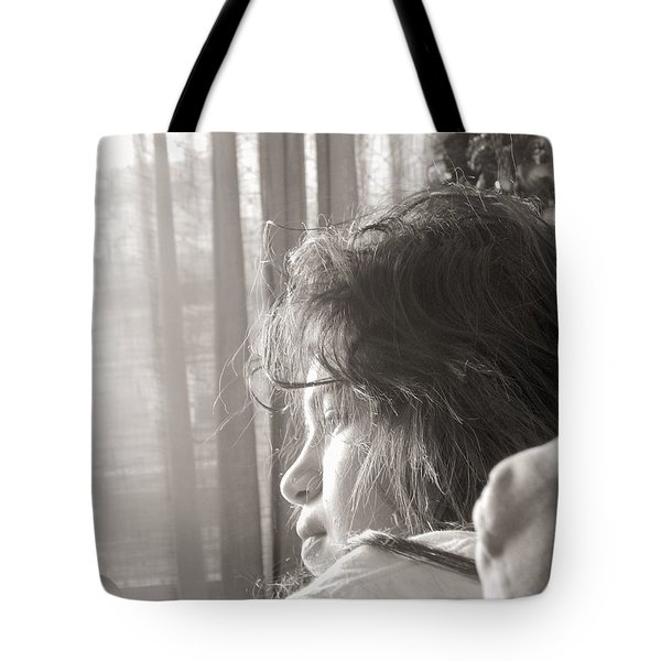 Connect Us To The Life Outside Tote Bag