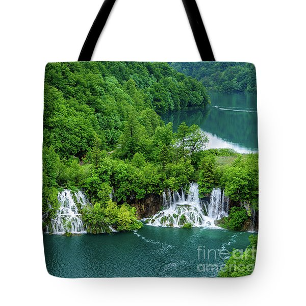 Connected By Waterfalls - Plitvice Lakes National Park, Croatia Tote Bag