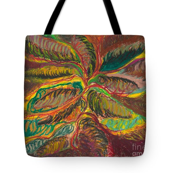 Tote Bag featuring the painting Connected In Life by Ania M Milo