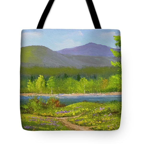 Tote Bag featuring the painting Connecticut River Spring by Frank Wilson