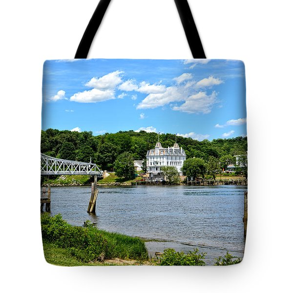 Connecticut River - Swing Bridge - Goodspeed Opera House Tote Bag
