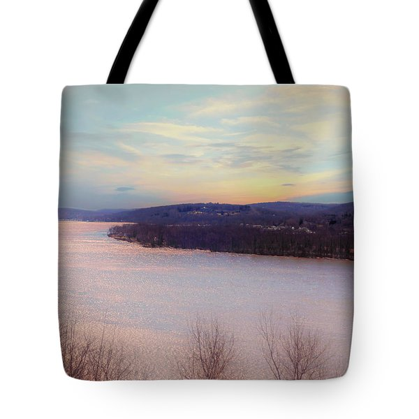Connecticut River View From Gillette Castle. Tote Bag