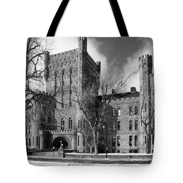 Tote Bag featuring the photograph Connecticut Street Armory 3997b by Guy Whiteley